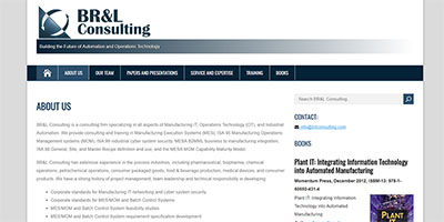 BRL Consulting website