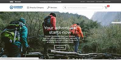 Gander Outdoors website