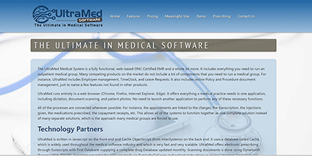 UltraMed Software website